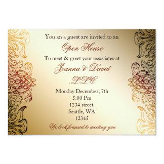 invitación corporativa elegante del fiesta del oro