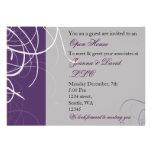 invitación corporativa púrpura elegante del fiesta