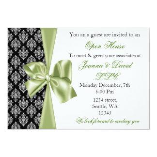invitación corporativa verde elegante elegante