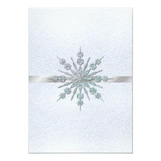 Invitación cristalina del boda del invierno de los