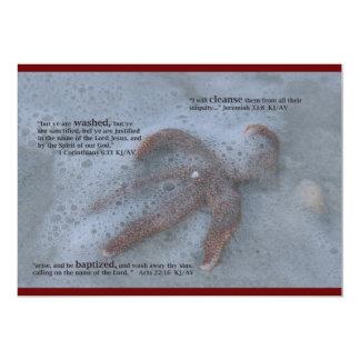 Invitación cristiana del bautismo invitación 12,7 x 17,8 cm