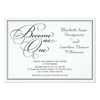 Invitación cristiana del boda de la caligrafía