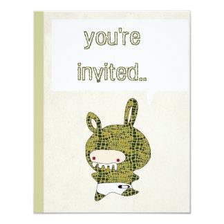 invitación crockodile del crockodyle del croko invitación 10,8 x 13,9 cm
