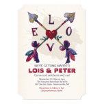 Invitación cruzada de las flechas de amor