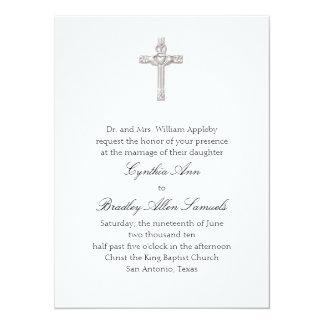 Invitación cruzada del boda de Claddagh