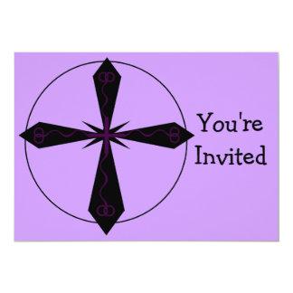 Invitación cruzada gótica