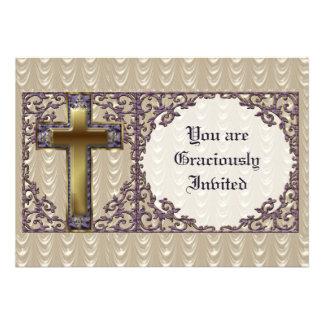 Invitación cruzada púrpura
