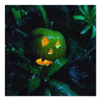 Invitación cuadrada de Halloween de la linterna