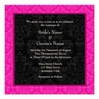 Invitación cuadrada del boda del monograma del dam
