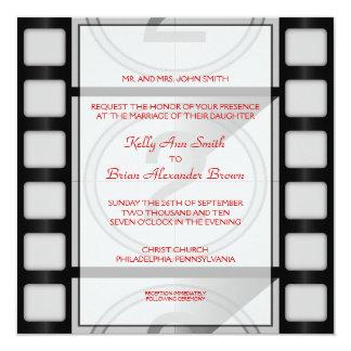 Invitación cuadrada del cine