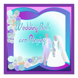 Invitación cuadrada distintiva del boda