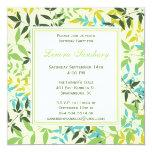 Invitación cuadrada floral de la fiesta de invitación 13,3 cm x 13,3cm