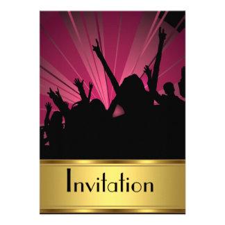 Invitación cualquier oro del fiesta y fiesta