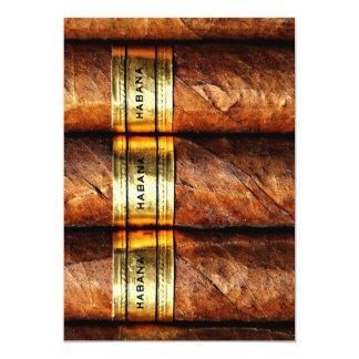Invitación cubana de Habana de los cigarros