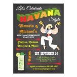 Invitación cubana del poster de las noches de La H