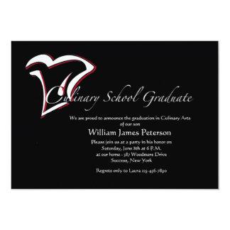 Invitación culinaria de la graduación de la invitación 12,7 x 17,8 cm