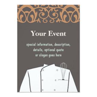Invitación culinaria del cocinero