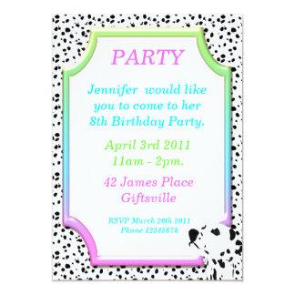 Invitación dálmata 2 de la fiesta de cumpleaños