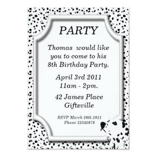 Invitación dálmata de la fiesta de cumpleaños
