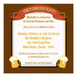 invitación de 5x5 Oktoberfest