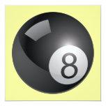 Invitación de 8 bolas