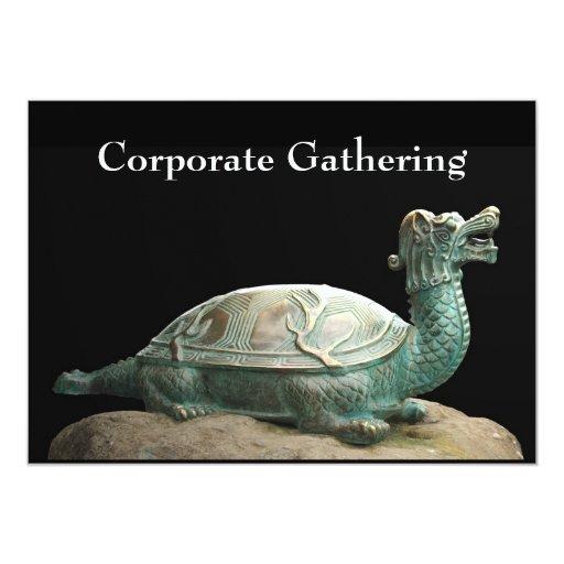 Invitación de acopio corporativa de la tortuga del