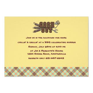 Invitación de Argyle del Cookout