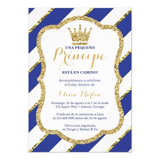 Invitacion De Baby Shower Para Un Principe Invitation Zazzle Com