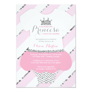 Invitación de Baby Shower para una Princes Card