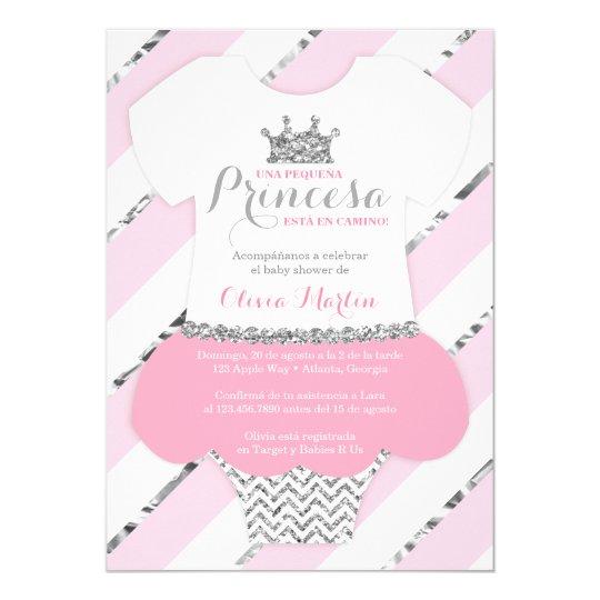 Invitacin De Baby Shower Para Una Princes Invitation Zazzle