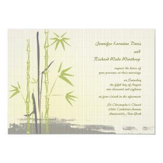 Invitación de bambú del boda