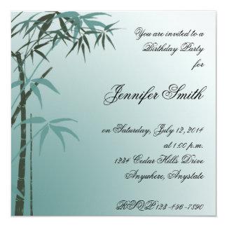 Invitación de bambú del cumpleaños del trullo