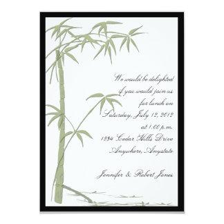 Invitación de bambú del fiesta de la belleza