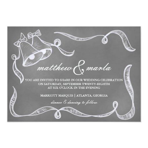 Invitación de Belces de boda de la pizarra del