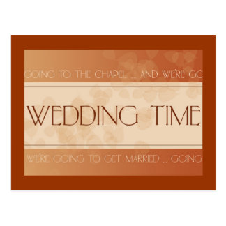 Invitación de boda de la caída tarjeta postal