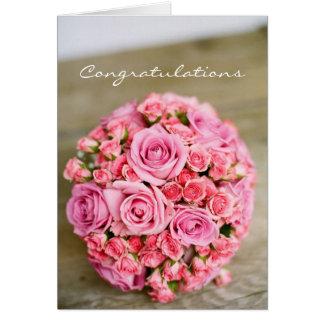 Invitación de boda de la enhorabuena tarjeta de felicitación