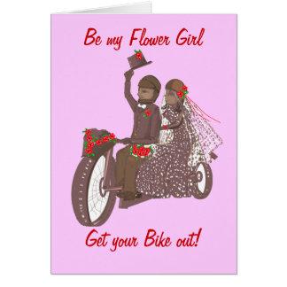 Invitación de boda de la motocicleta del motorista tarjeta