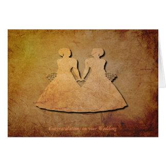 Invitación de boda de la textura del vintage para  tarjeta de felicitación