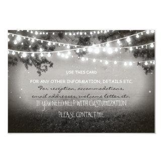 invitación de boda de las linternas de la noche
