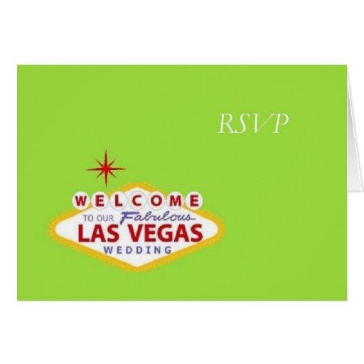 Invitación de boda de Las Vegas RSVP Felicitación