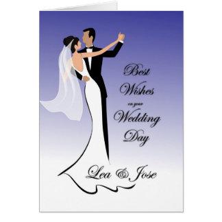Invitación de boda de los pares del baile para tarjeta de felicitación