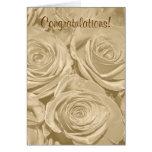 Invitación de boda de los rosas de Champán Tarjetón