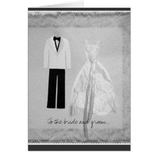 Invitación de boda de novia y del novio felicitaciones