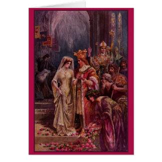 Invitación de boda de rey Arturo del vintage Tarjeta De Felicitación