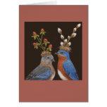 Invitación de boda del Bluebird Tarjeta De Felicitación