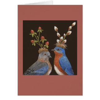 Invitación de boda del Bluebird Felicitación