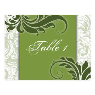 Invitación de boda del número de la tabla - remoli postales