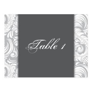 Invitación de boda del número de la tabla - remoli tarjeta postal