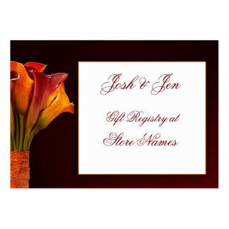 Invitación de boda del registro de regalos de la tarjetas de visita grandes