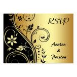 Invitación de boda elegante de Scrollwork RSVP de  Tarjetas Personales